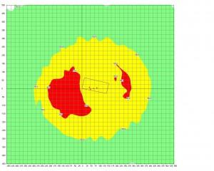 Przykładowy model na siatce współrzędnych