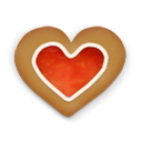 christmas-cookie-heart-icon